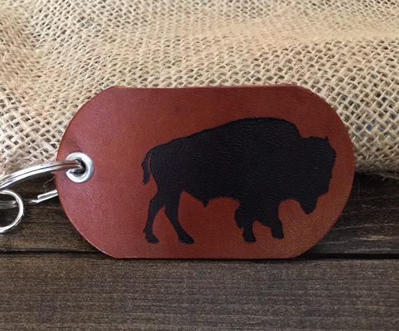 Bison Buffalo Keychain New