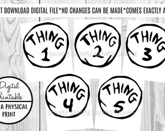 photograph about Thing 2 Logo Printable titled Matter 1 issue 2 printable Etsy