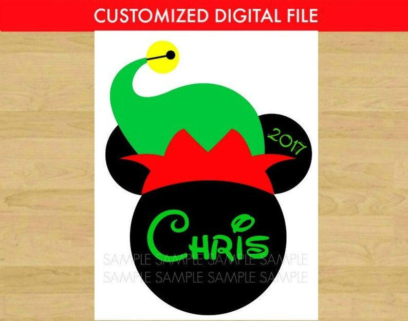 graphic about Elf Hat Printable named Mickey Mouse Elf Hat Printable Iron Upon Disney Move - clip artwork Do-it-yourself Disney Mickey Blouse - Xmas Mickey Mouse Ears Thoughts - Personalized