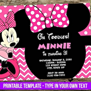 Minnie mouse invites etsy minnie mouse invitation diy you print birthday party invite disney inspired editable pdf invitation with adobe reader printable filmwisefo