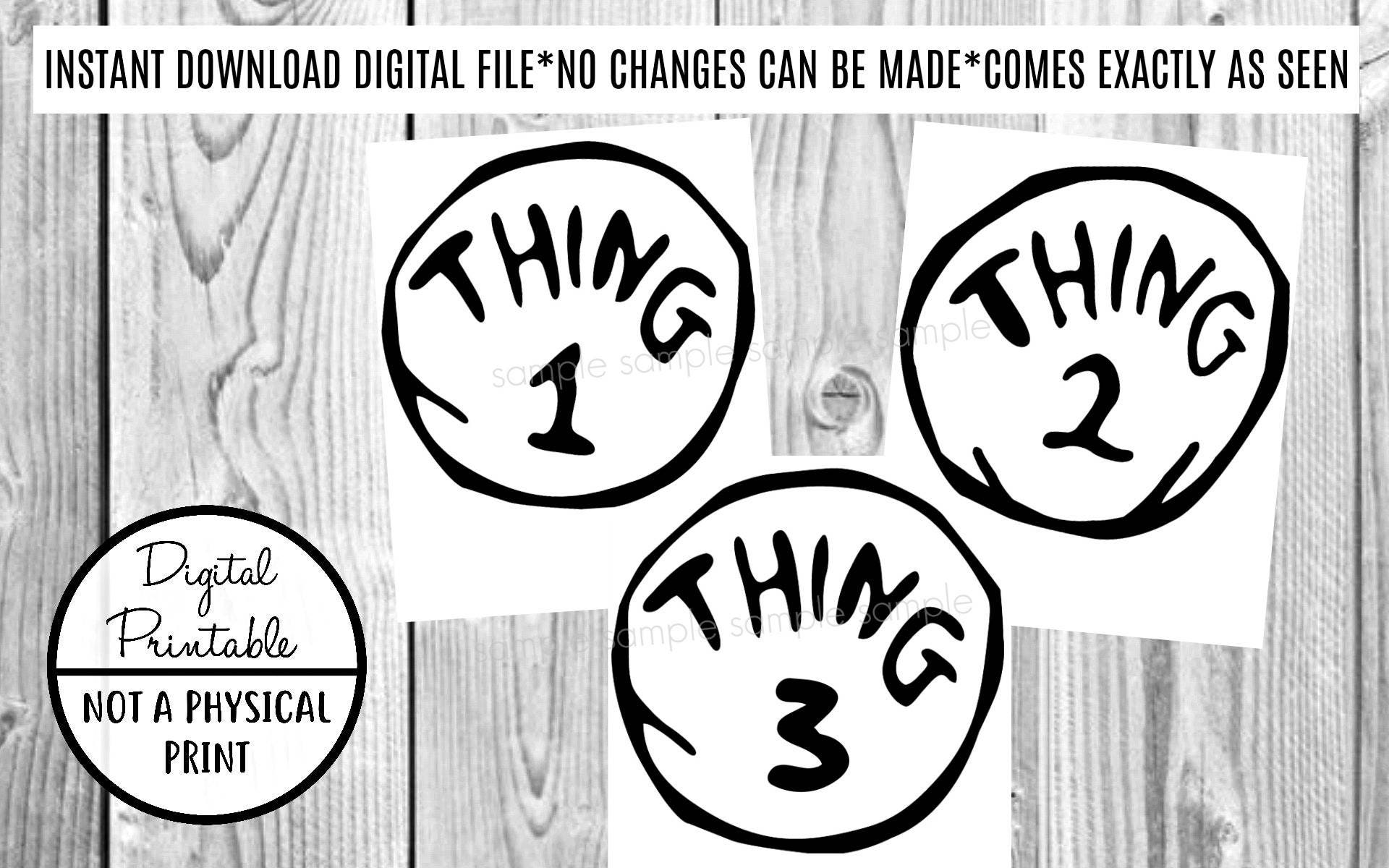 picture regarding Thing 1 and Thing 2 Printable Iron on Transfer called Point 1 Matter 2 Detail 3 Iron Upon Disney Go - Clip Artwork - Printable - Immediate Obtain