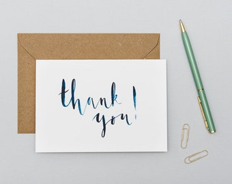 Thank You Cards Pack / Thank You Cards Wedding / Thank You Cards Set / Thank You Cards Multipack / Blue Thank You Cards / Thank You Baby