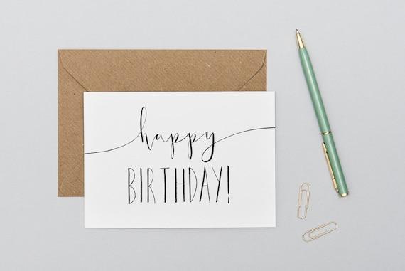 Pleasant Happy Birthday Card Birthday Cards Minimal Birthday Card Etsy Birthday Cards Printable Nowaargucafe Filternl