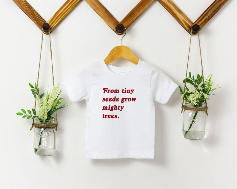 From Tiny Seeds Grow Mighty Trees Activist Kids Shirt image 0