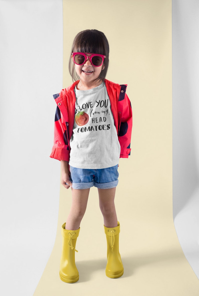 From My Head Tomatoes Hipster Kids Shirt Pun Hipster image 0