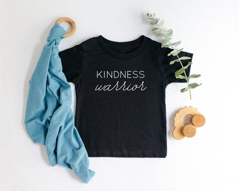 Kindness Warrior Shirt Kids Tshirt Toddler Tee Baby image 0