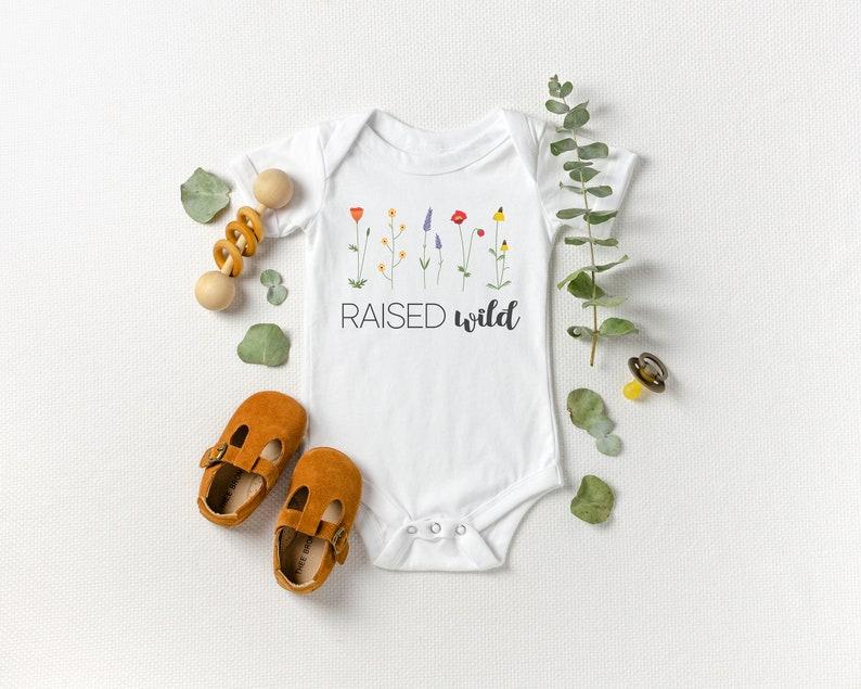 Raised Wild Baby Onesie® Kids Shirt Montessori Wildlife image 0