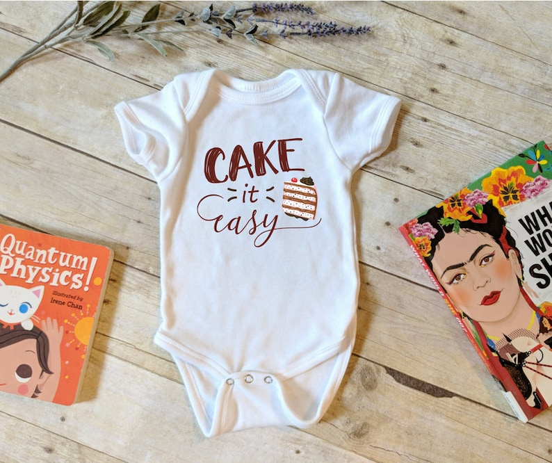 Cake It Easy Onesie® Hipster Onesie® Punny Kids Shirt image 0