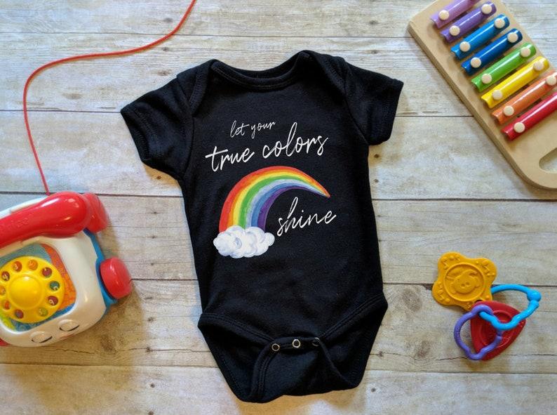 True Colors Onesie® Rainbow Onesie® Kids Rainbow Shirt image 0