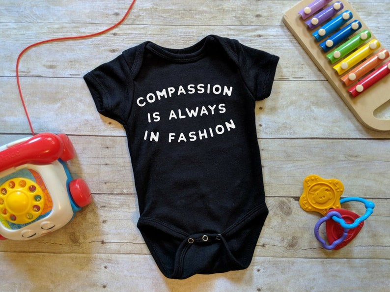 Compassion Onesie® Gender Neutral Baby Gift Kindness Baby image 0