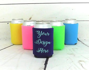 Custom Can Cooler, Personalized Bottle Insulator, Can Cooler, Bottle Insulator, Can Insulator, Wedding Can Cooler, Custom Can Insulator