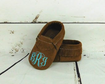 Custom Baby Shoes / Monogram Baby Shoes / Custom Baby Moccasins / Baby Shoes / Crib Shoes / Baby Girl Shoes / Baby Boy Shoes / Custom Shoes