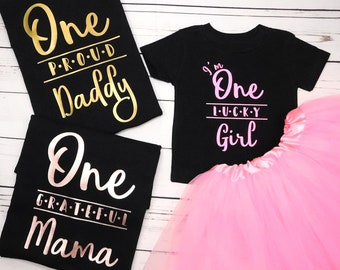 055c84e9 Custom Family Shirts for Girls First Birthday Family Shirts 1st Birthday  Shirts for Mom, Dad, Matching Outfits, no accessories included