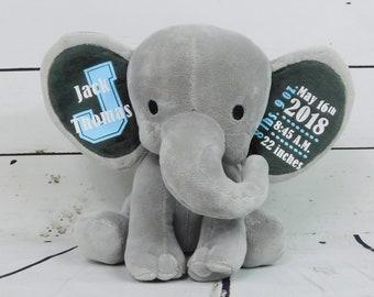 Baby Gift / Baby Boy Gift / Baby Girl Gift / Custom Stuffed Animal / Elephant / Custom Baby Gift / Monogram Baby / Chessa Creations & Custom baby gifts | Etsy