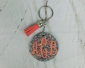 More colours. Cute Womens Keychain Monogram Keychain Glitter ... f213b79ab9