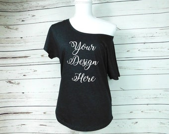 575e6e27 Off The Shoulder Womens Shirt Custom Womens Shirt Bridesmaids Shirts Mom  shirt Flowy Womens Shirt custom plus size womens shirt loose shirt