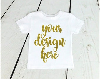 Kids Birthday Shirt Custom Shirts Personalize Boy Girl Glitter Bodysuit