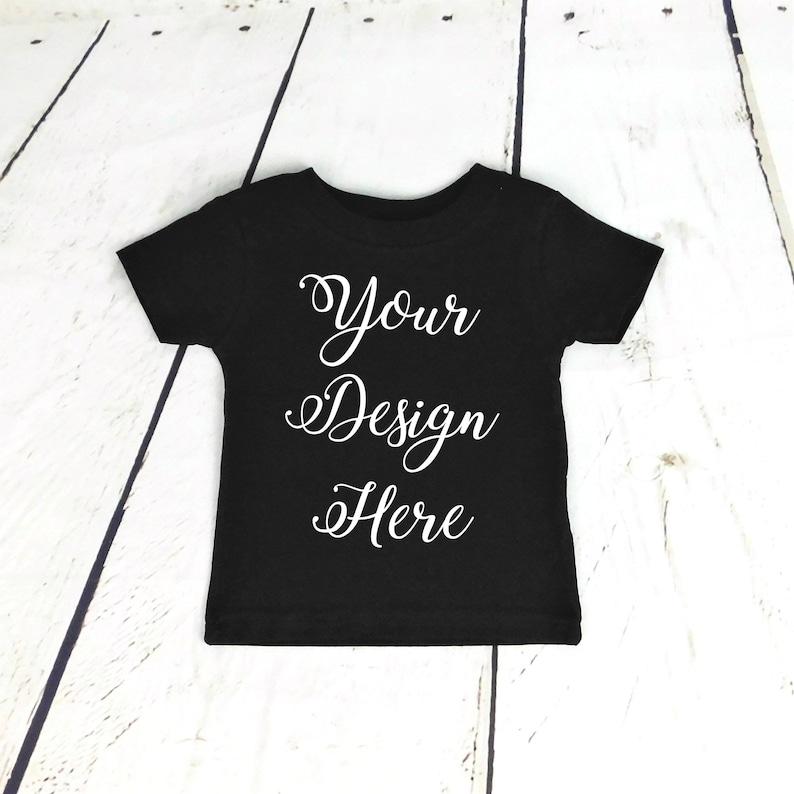 c7bbfe353da7 Custom Black Toddler Shirt / Custom Black Baby Bodysuit / | Etsy
