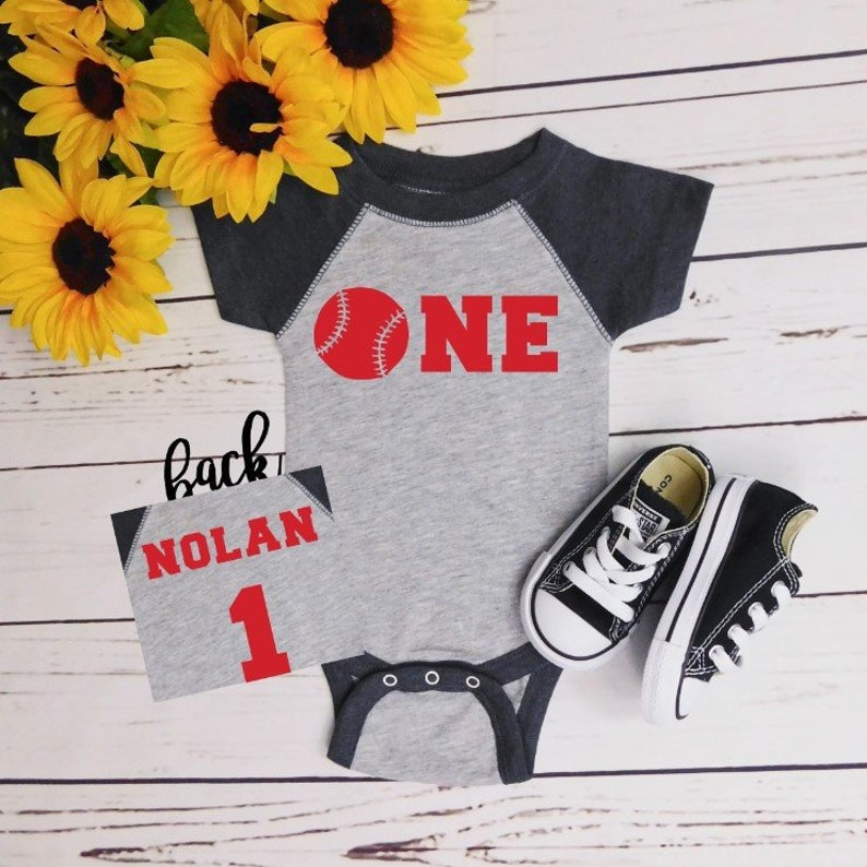 1st Birthday Boy Outfit Baseball One Year Old Boy Birthday Outfit 1st Baseball Birthday First