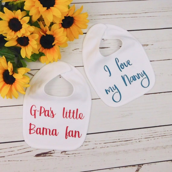 Funny Embroidered Personalised Bib Baby Shower Gift That/'s it im calling grandad