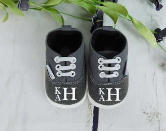 Baby Shoes Baby Gift Monogram Baby Shoes Custom Baby Girl Shoes Baby Boy Shoes Crib Shoes Baby Shower Gift Custom Baby Gift Baby Shoes