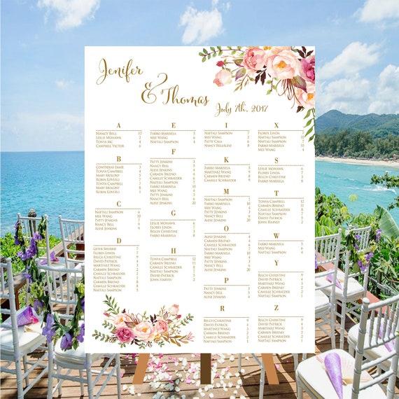 Druckbare Hochzeit Sitzordnung Aquarell Boho botanische | Etsy