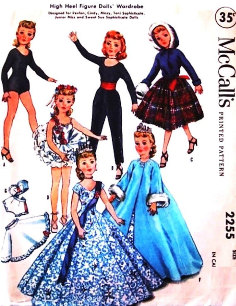 "Vtg Doll Dress Coat Hat Pattern 20/"" 21/"" 22/"" Toni Sweet Sue Miss Revlon Cissy"
