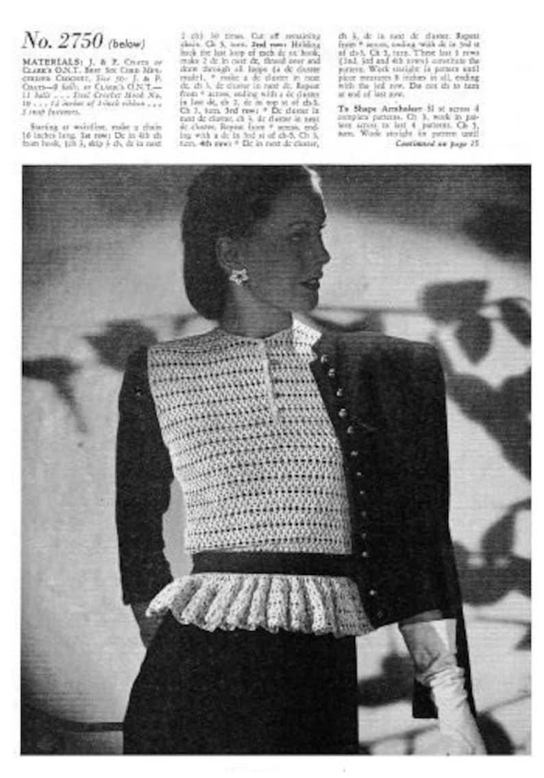 Accessories to Crochet Coats /& Clark Book No.221