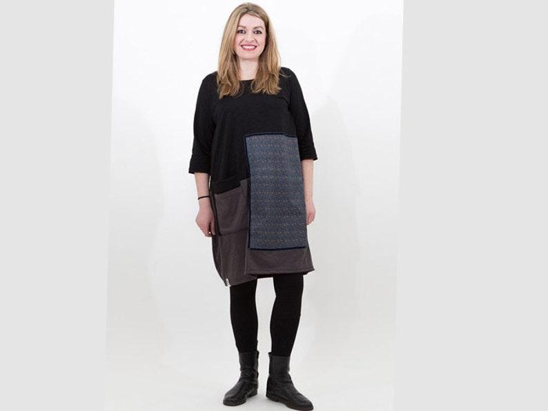 e8f117ec739 Black organic cotton dress  women loose dress  women dress