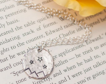 Rhys Tattoo Inspired Silver ACOMAF Necklace  - Bookish Gift - Book Lover Gift - Book Jewelry - Book Worm