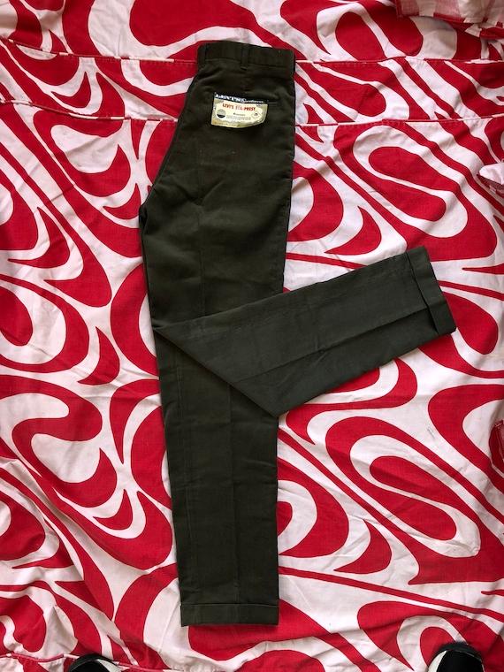Vintage 1960s 60s Levi's Big E brown corduroy cuff