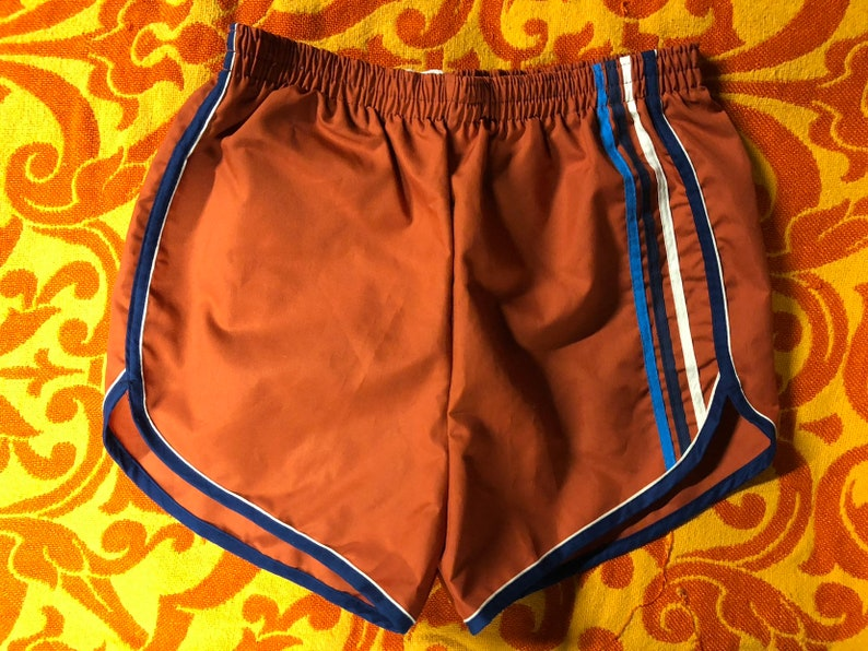6aef05e10b176 Vintage 1970s 70s athletic red stripped short shorts swimming | Etsy