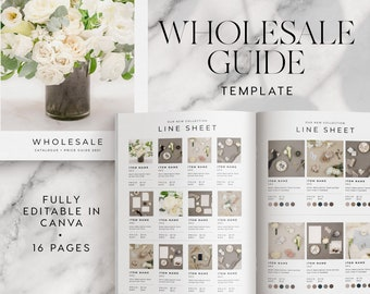 Line sheet for wholesale INSTANT DOWNLOAD Wholesale catalogue Canva template, Pricing Book, Linesheet Template, Editable, For Wholesale