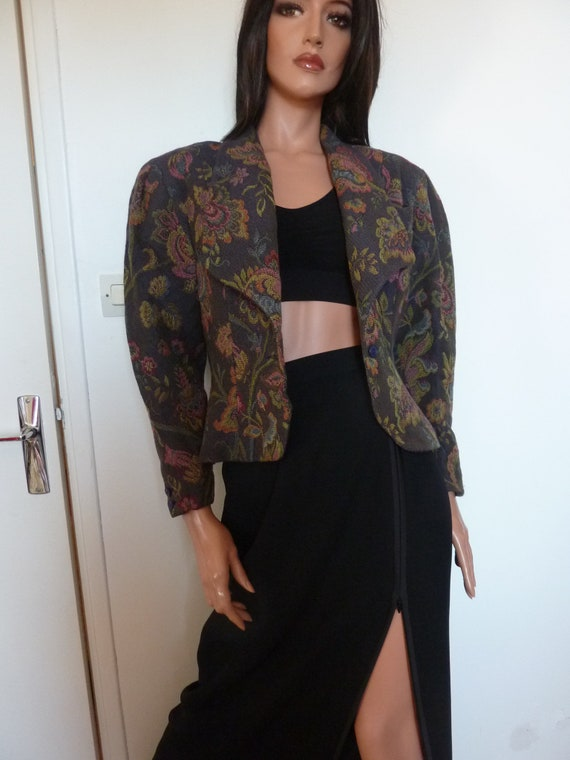 80s Jacket Big Puff Sleeves Synonyme Georges Rech… - image 9
