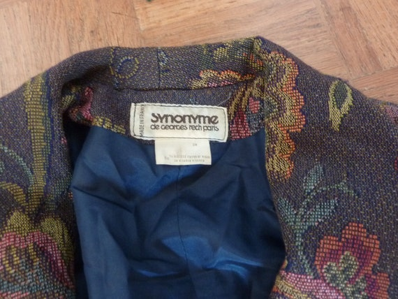 80s Jacket Big Puff Sleeves Synonyme Georges Rech… - image 2