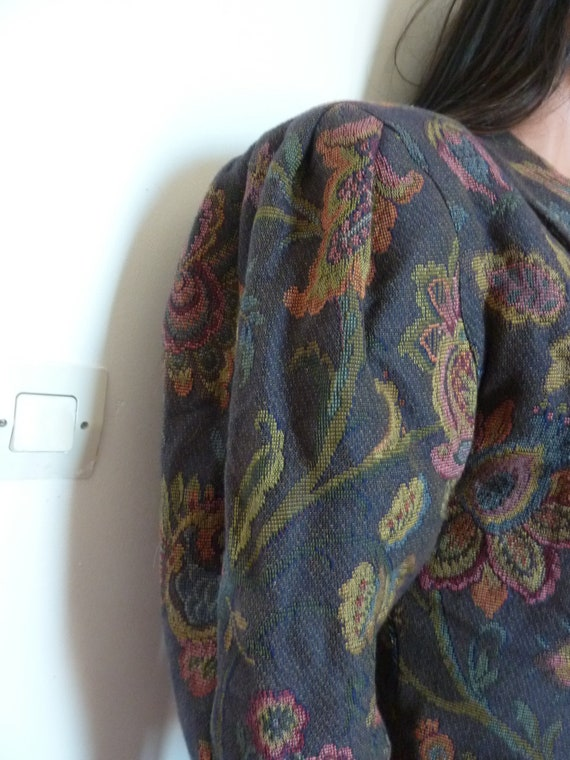 80s Jacket Big Puff Sleeves Synonyme Georges Rech… - image 7