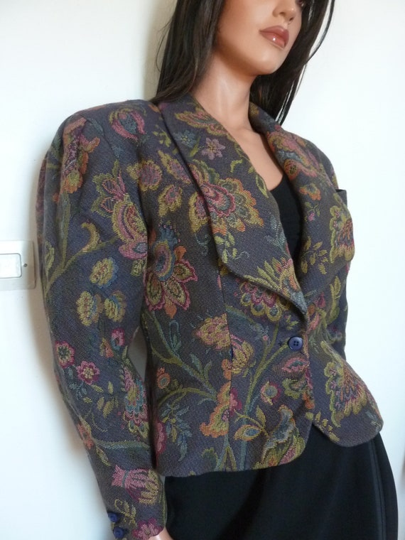 80s Jacket Big Puff Sleeves Synonyme Georges Rech… - image 8