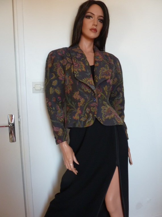 80s Jacket Big Puff Sleeves Synonyme Georges Rech