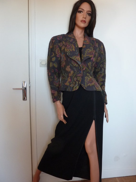 80s Jacket Big Puff Sleeves Synonyme Georges Rech… - image 10
