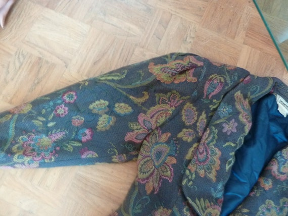 80s Jacket Big Puff Sleeves Synonyme Georges Rech… - image 4