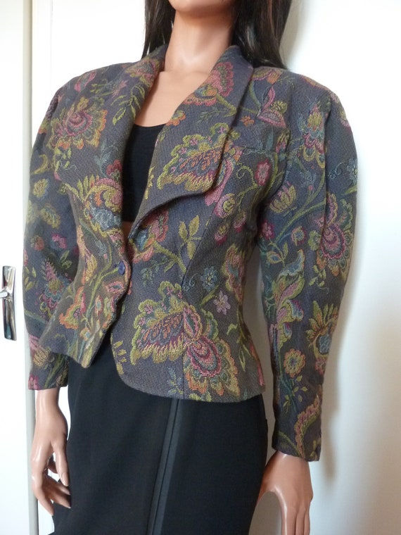 80s Jacket Big Puff Sleeves Synonyme Georges Rech… - image 6