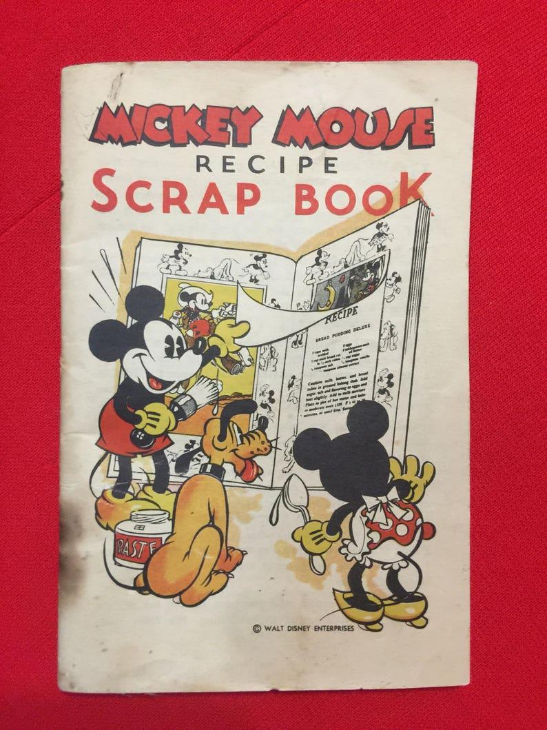 a5f322dd4d5 1930 s Mickey Mouse Recipe Scrap Book Bell Bread