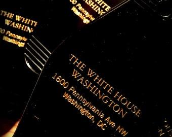 THE WHITE HOUSE inspired keytag
