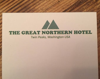 """GREAT NORTHERN HOTEL Notepad -- """"Twin Peaks"""" inspired"""