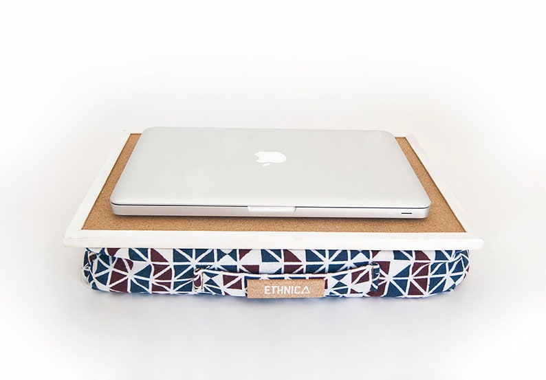 On Sale Eco Friendly Laptop Tray With Cushion For Bed Lap Desk With Pillow Serving Tray With Cushion Breakfast Tray Ergonomic Laptop Desk