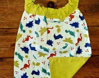 Elasticated towel for creche, kindergarten, school