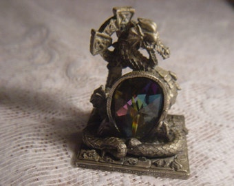 the tudor mint,myth and magic pewter dragon,the celtic dragon 3121 by a.g.slocombe