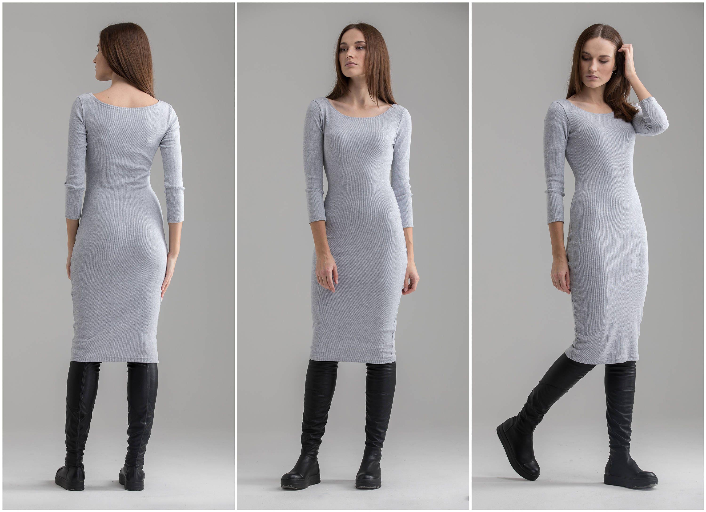 962c996fc87 Midi Dress Bodycon Dress Casual Dress Sexy Dress Elegant | Etsy