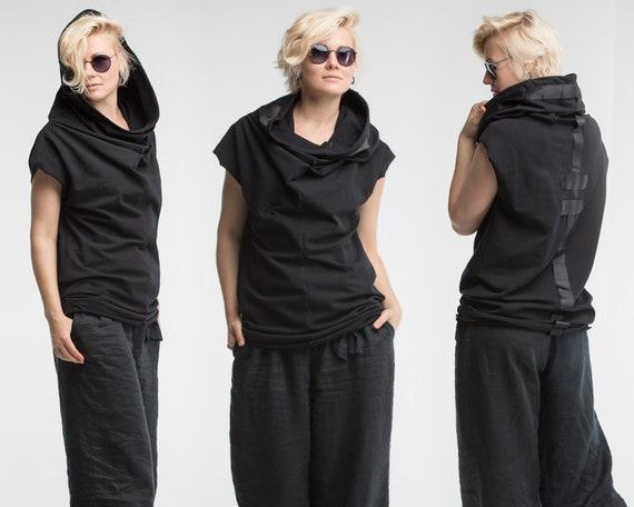 Punk Con Donne CosplayFelpa Streetwear ShirtTop Senza CamiciaAbbigliamento Psichedelico Cappuccio Futuristico ManicheRock T LqSpzMUVG