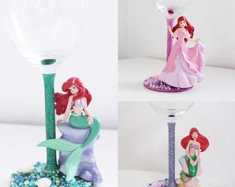 Disney glass Ariel (glass or plastic)